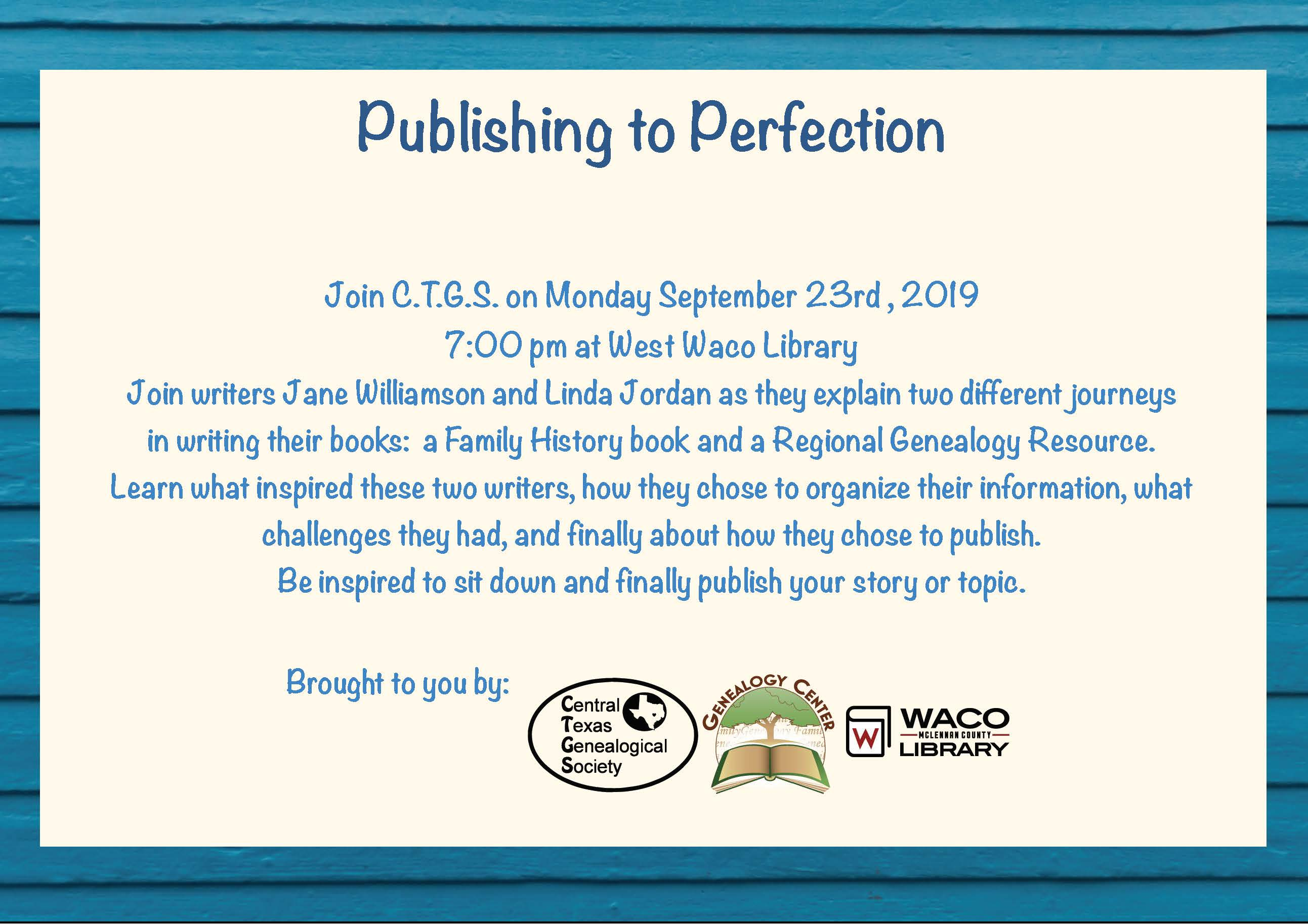 Publishing to Perfection